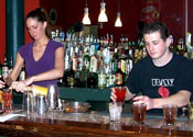 Learn bartending behind an actual bar at the Professional Bartenders School of New England, located downtown Boston!